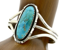 Navajo Bracelet .925 SOLID Silver Turquoise Mountain Native American Artist C90s