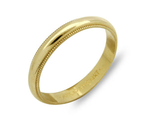 3.0 mm Wide Band 14k SOLID Yellow Gold Sizable 7.0