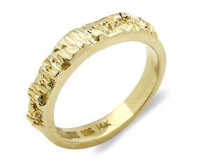 Women's 14k SOLID Yellow Gold Engagement Band Ring High Polish Size 6.25