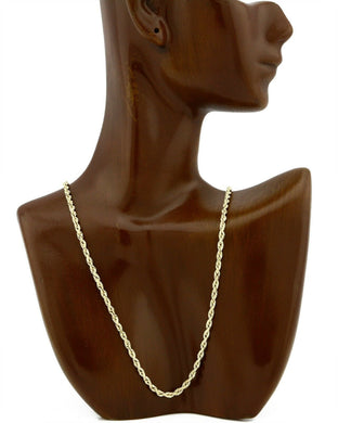 Rope Chain 3.0mm Wide in REal 10k Yellow Gold 18in Long