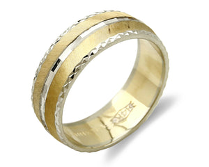Women's Ring 14k SOLID Gold Band 6.0 mm Wide