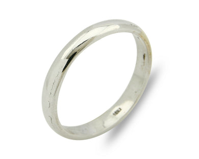 Wedding Band 18k Gold SOLID White 3.5 mm Wide Ring