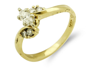 Women's High Quality Natural Mined Diamonds .36 tcw 14k SOLID Gold Ring