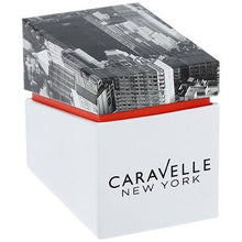 NEW CARAVELLE NEW YORK LADIES DAY DATE CRYSTAL WATCH # 43N102 MSRP $125 Resin