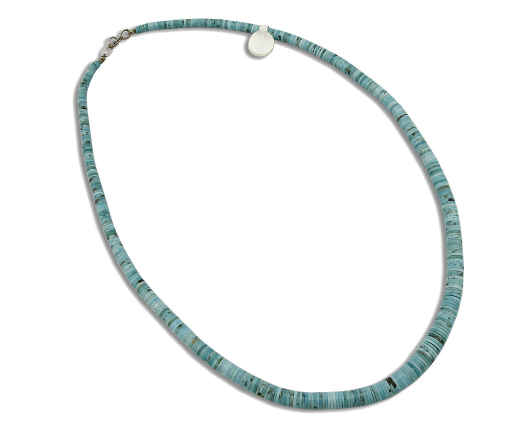 Women's Navajo Arizona Turquoise Necklace .925 Silver Handmade 24.5 in Length
