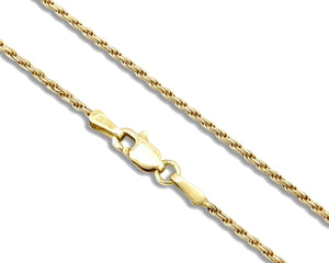 Women's Rope Chain 14k SOLID Yellow Gold 1.25 mm Wide High Quality Chain