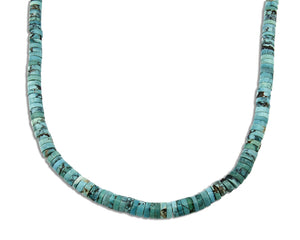 Women's Navajo Necklace .925 Silver Blue Arizona Turquoise & Natural Corals