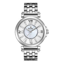 Bulova 96P134 Women's Diamond White MOP Dial Steel Bracelet Watch Modern Dress