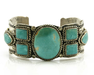 Navajo Bracelet .925 Silver South West Turquoise Artist Native American C.80's