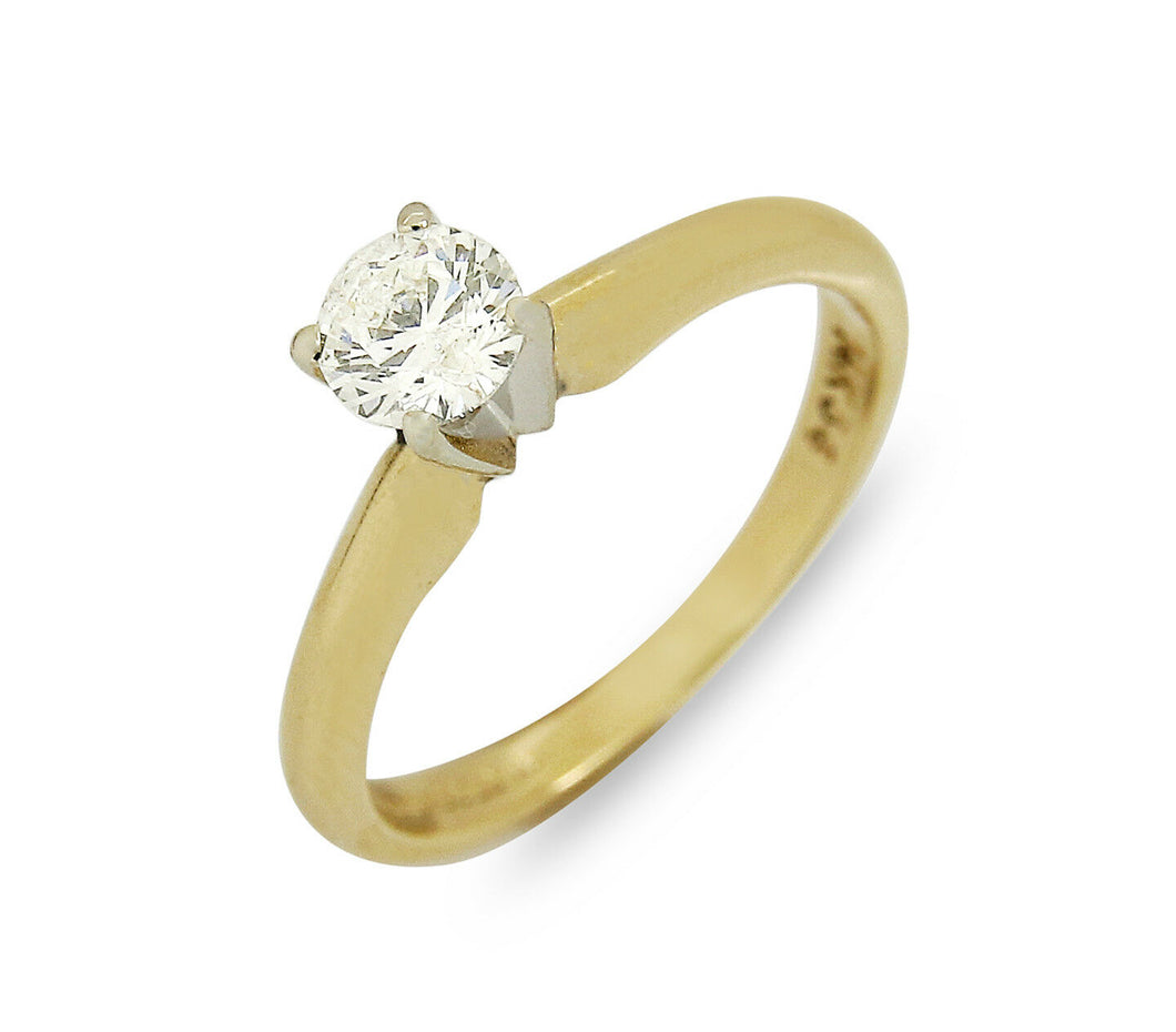 Women's Magicglo xx High Quality Natural Diamond .36 ct Solitaire Ring 14k Gold