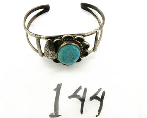 Navajo Bracelet .925 Silver Turquoise Castle Dome Artist Native American