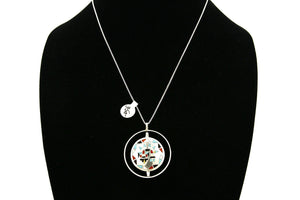 Women's Navajo Spinner Necklace .925 Silver Gemstone C.1980's
