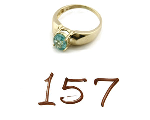 Women's Aquamarine Ring 14k SOLID Yellow Gold 1.5 tcw Natural