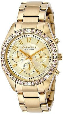 Caravelle New York 44L151 SS Analog Dress Modern Women's Watch Water Resistant