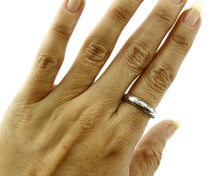 Women's Navajo Handmade Ring .925 Sterling Silver Hand Stamped C.80's