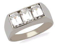 3.0 ct Diamond 3 Stone Ring Emerald Cut D/VS2 + in 14k Solid Gold