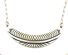 Women's Navajo Necklace .925 Silver & 14k Solid Gold Signed MM Rogers HMY
