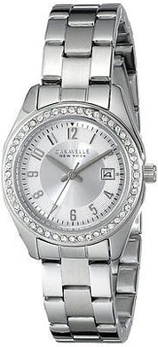 Caravelle New York Women's Analog Display Analog Quartz White Watch 43M108 SS