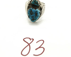 ZUNI Ring .925 SOLID Silver Sleeping Beauty Turquoise Rosemary & Ray Nieto