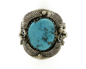 Navajo Turquoise Ring .925 Silver Handmade C.1980's