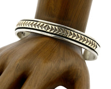 Navajo Bracelet .925 Silver & 14k Solid Gold MM Rogers and EG Cuff C.80's