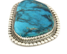 Navajo Pendant .925 Silver Blue Turquoise Signed Artist LTB C.80's