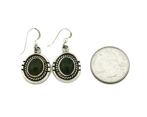 Women's Navajo Handmade Earrings .925 Silver & Agate Dangles