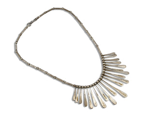 Women's Navajo Necklace .925 Silver Handmade Artist Native American C.80's