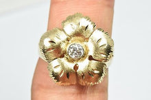 Artisan 14k Yellow Gold Hand Crafted .21 E-F ct Diamond Ring Not Enhanced Size 8