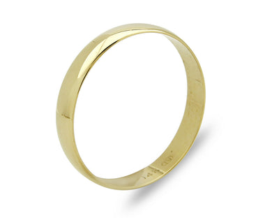 4.0mm Wide 14k SOLID Yellow Gold Band Ring Sizable 11.0