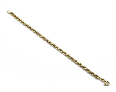 4.3 mm Wide 18k Real Yellow Gold 7.0 in Long Bracelet