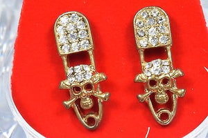 New 14k Gold Plated Microphone's Stud Hip Hop CZ Pave Earrings Lot