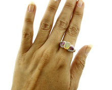Women's Gemstone Cocktail Ring 10k SOLID Yellow Gold