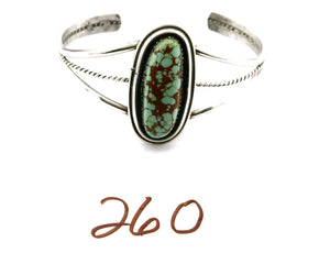 Women's Navajo Turquoise Bracelet .925 Silver Handmade Shadowbox Cuff