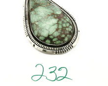 C. 1990 Rare Large Variscite Navajo Signed Begay .925 Silver Stamped Pendant
