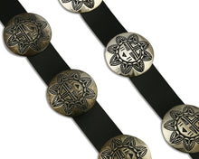 Women's Navajo Concho Belt Hand Stamped .925 Silver C.80's