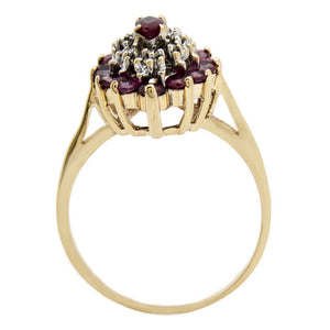 Women's 1.5 ct Ruby & Diamond Very High Quality Gemstones 10k Solid Yellow Gold