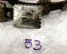 Navajo Concho Belt .925 Silver Hand Stamped Signed AG Circa 80's