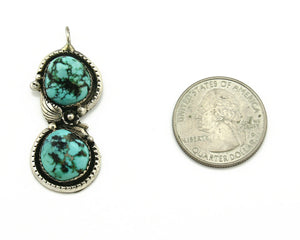 Navajo Pendant .925 Silver Natural Turquoise Mountain Tom Willeto C.80's