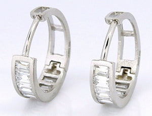 Women's Elegant 3 TCW Simulated Diamond Earrings in 14k SOLID White Gold