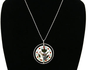 Women's Zuni Bird Pendant Spinner .925 Silver Signed Ray