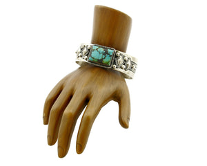 Women's Navajo Turquoise Bracelet .925 Silver Mike Begay Cuff C.80's