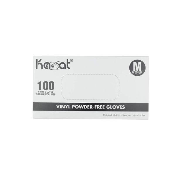 Vinyl Powder Free Disposable Gloves-Box of 100 Gloves