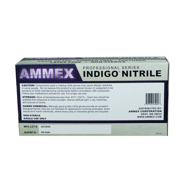 Indigo Nitrile Exam Latex Free Disposable Gloves-Case of 1000
