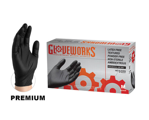Gloveworks Industrial Nitrile Gloves-Box of 100 Gloves