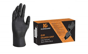 Black Nitrile Latex Free Disposable Gloves-Box of 100 Gloves