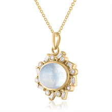 Side View Road Moonstone Pendant