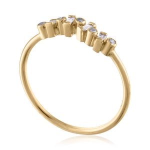 Gold and  Diamond Stacking Band Ring