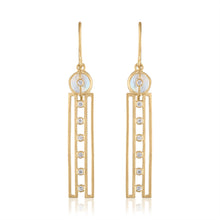 Harmony Earrings with Moonstones, Diamonds & 14K Gold