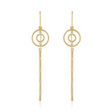 Harmony Earrings with Diamonds & 14k Gold